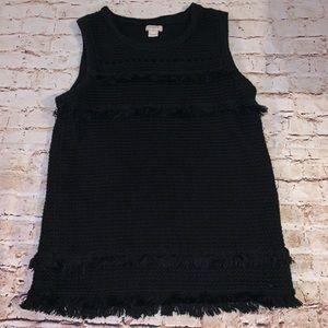 J. Crew Factory textured sleeveless blouse